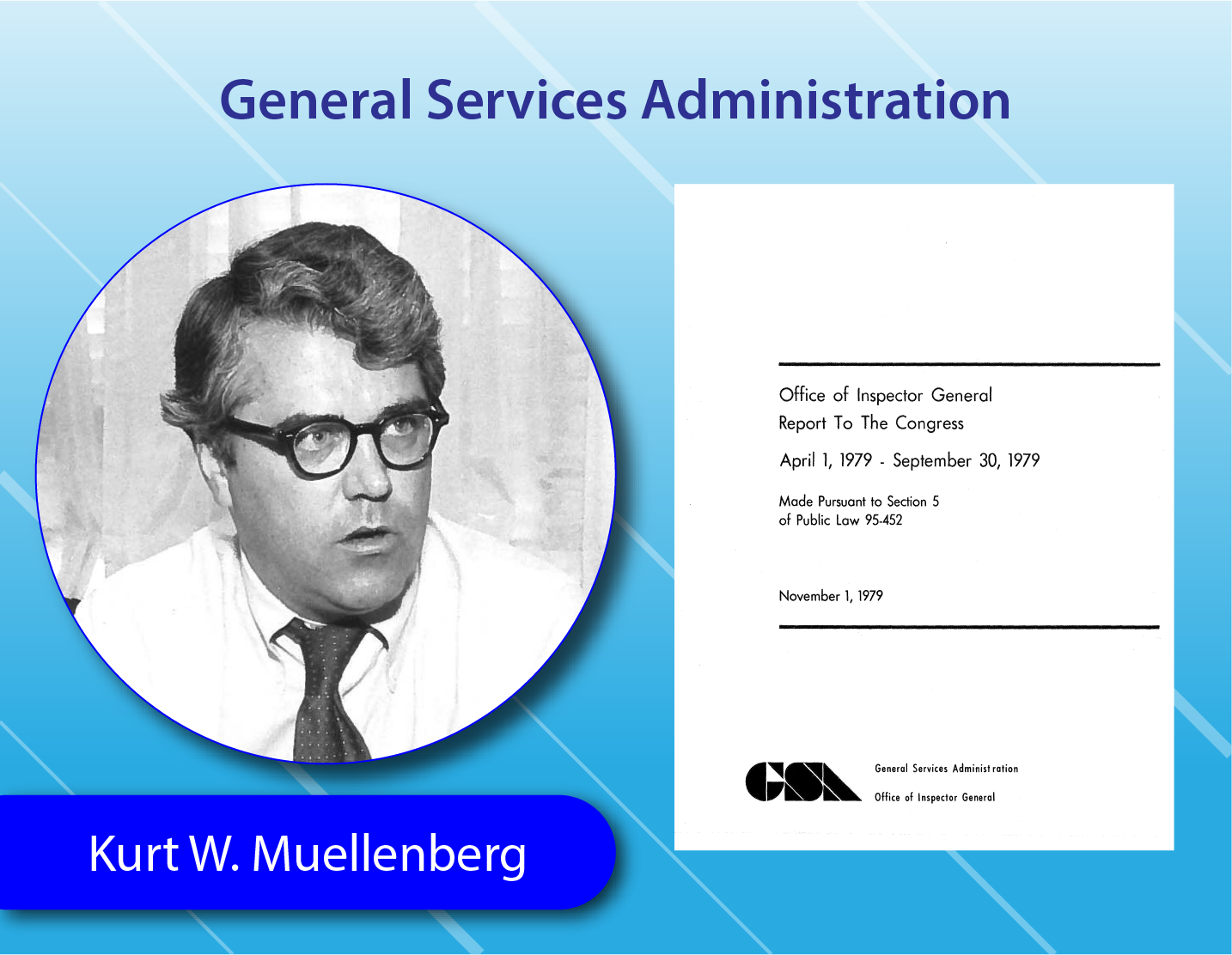 General Services Administration - Kurt W. Muellenberg