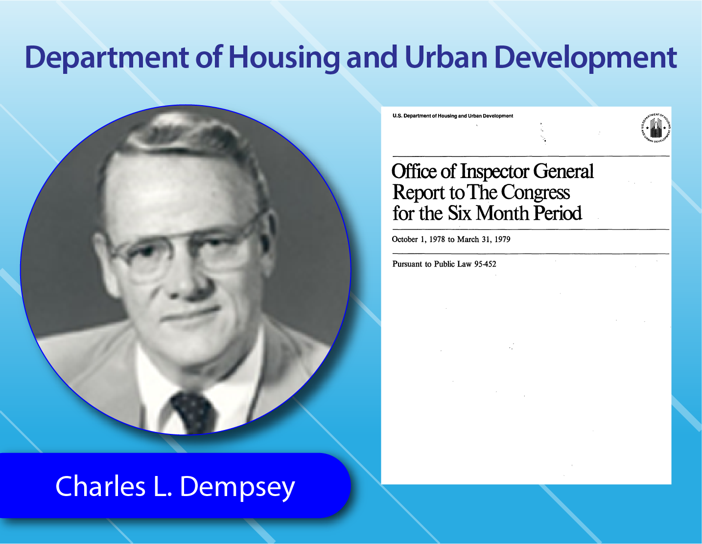 Department of Housing and Urban Development - Charles L. Dempsey