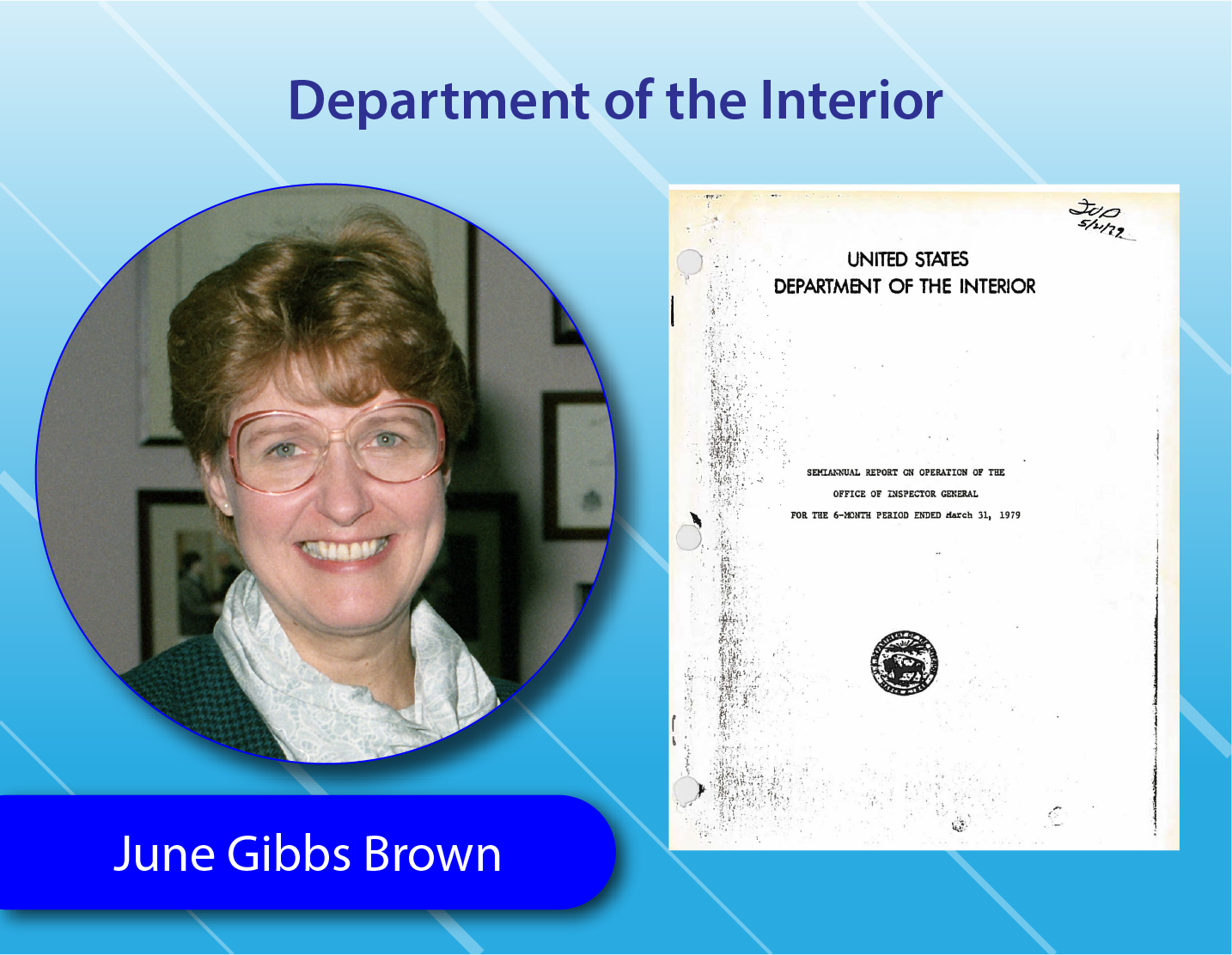 Department of Interior - June Gibbs Brown