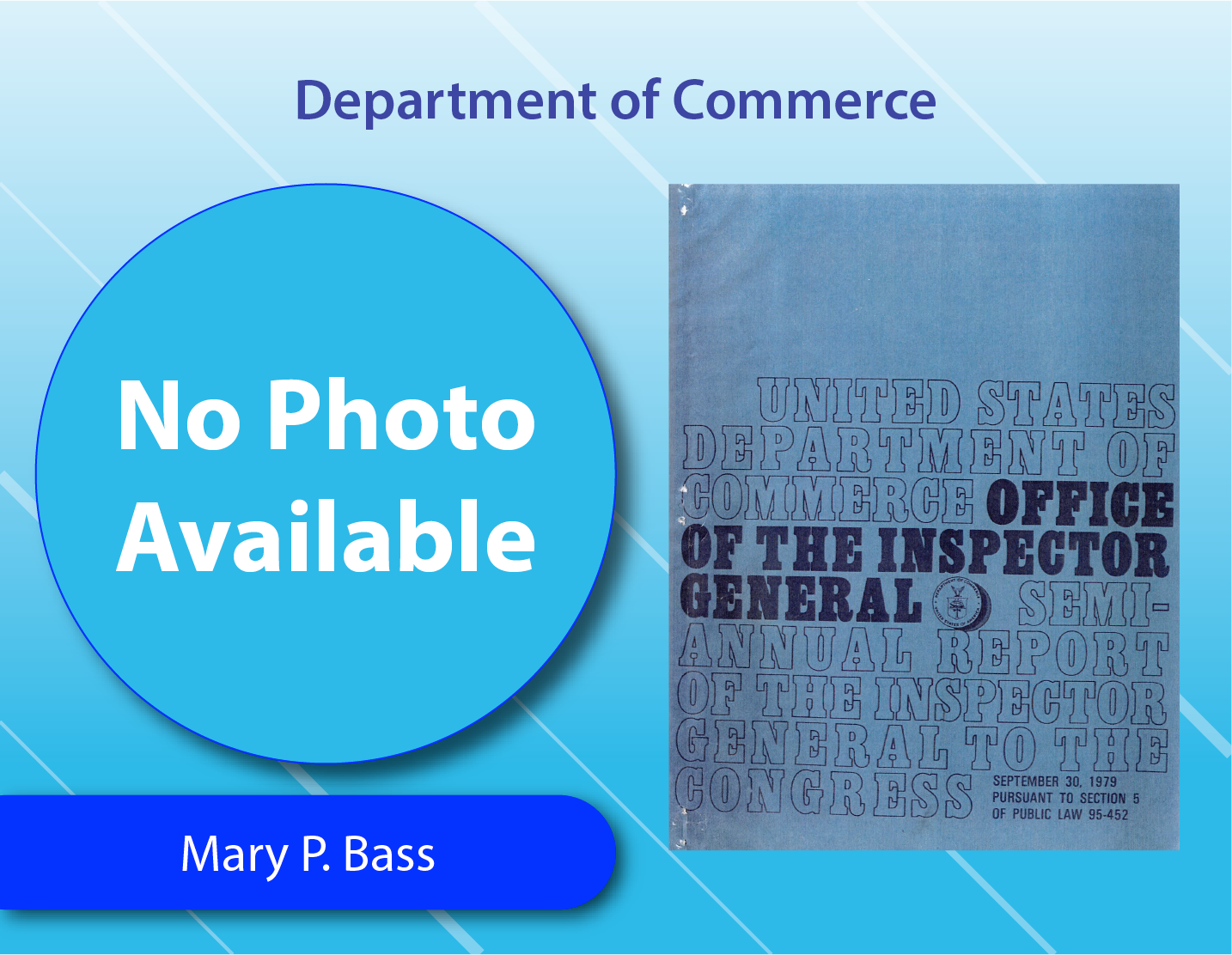 Department of Commerce - Mary P. Bass